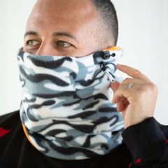 SHOLDIT Convertible Neck Gaiter with Pocket Camouflage Orange