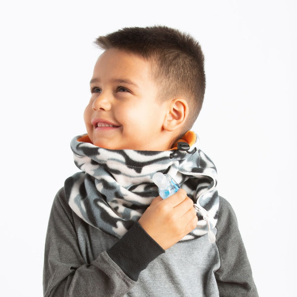 Convertible Neck Gaiter with Pocket Youth Camo Orange