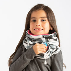 Convertible Neck Gaiter with Pocket Camo Pink Youth
