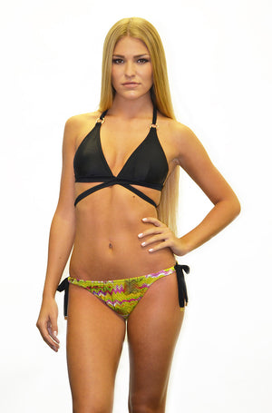 Mystic tie side string bottom w/gold rings