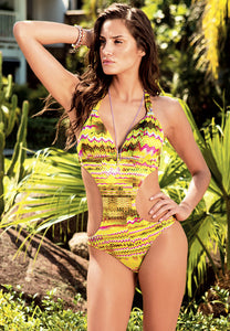 Mystic padded one-piece w/gold detail