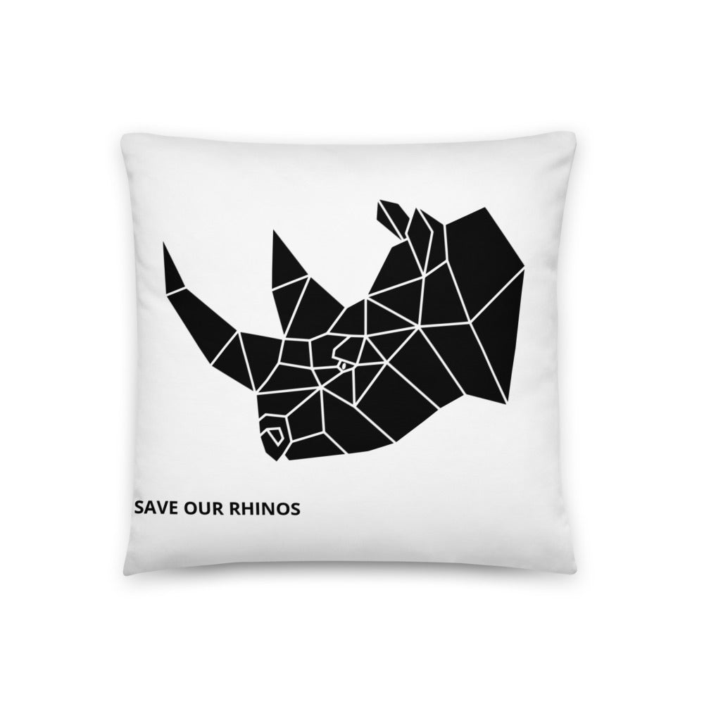 SAVE OUR RHINOS PILLOW