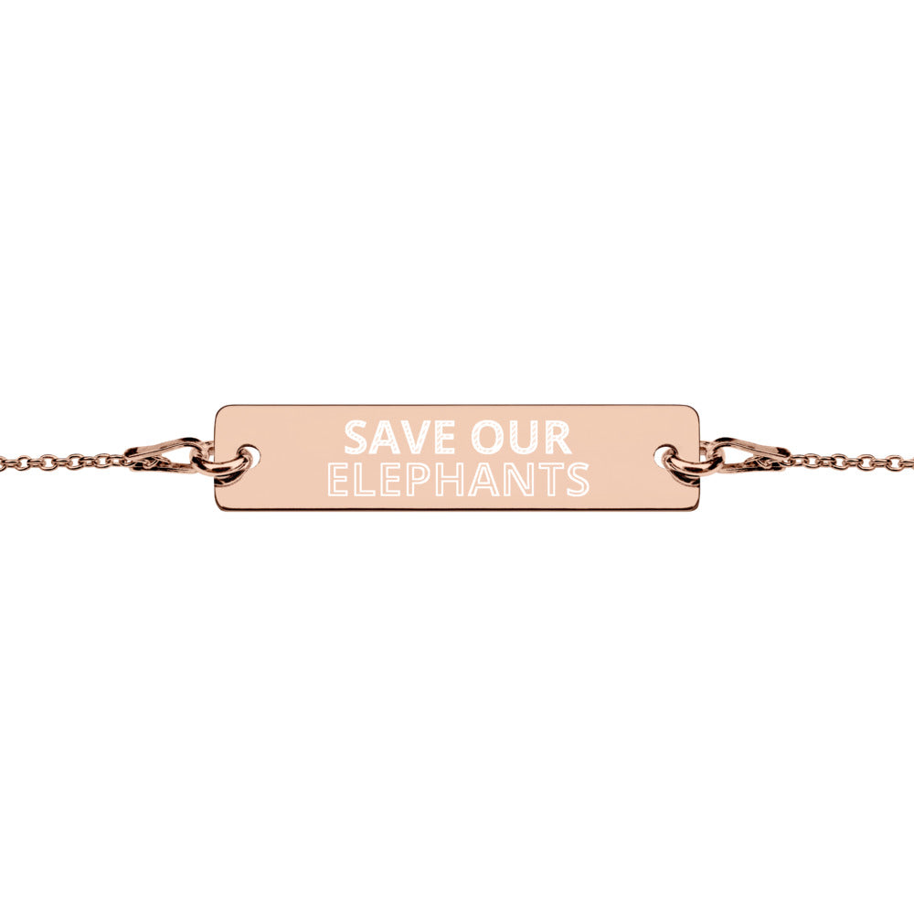 SAVE OUR ELEPHANTS BRACELET