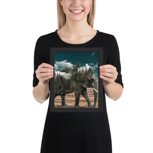 SAVE OUR ELEPHANTS FRAMED POSTER