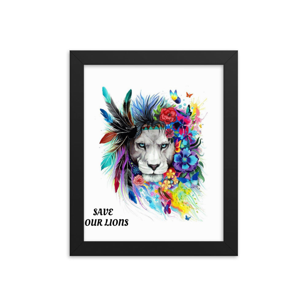 SAVE OUR LIONS FRAMED POSTER