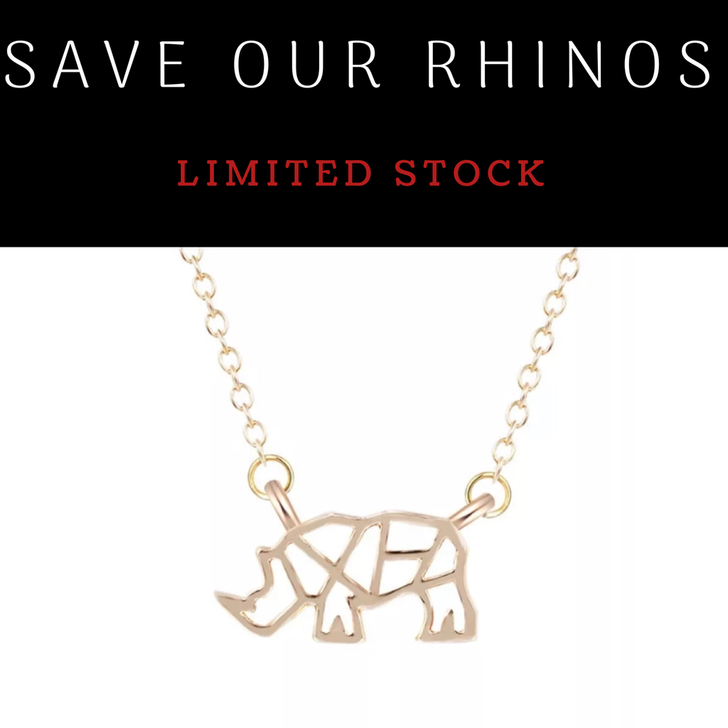Save Our Rhinos Necklace