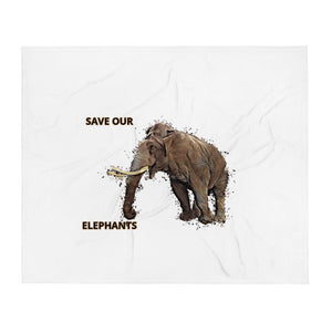 SAVE OUR ELEPHANTS BLANKET