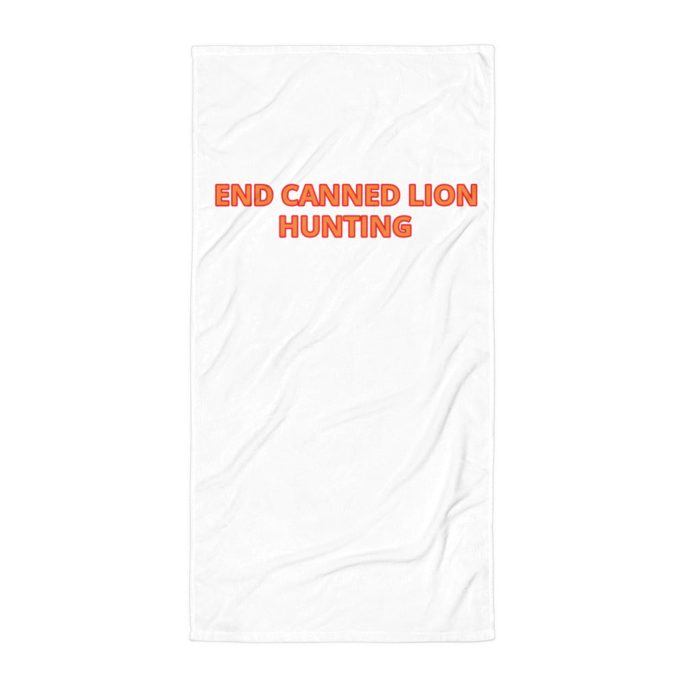 END CANNED LION HUNTING TOWEL