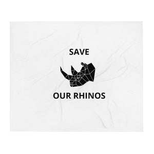 SAVE OUR RHINOS BLANKET