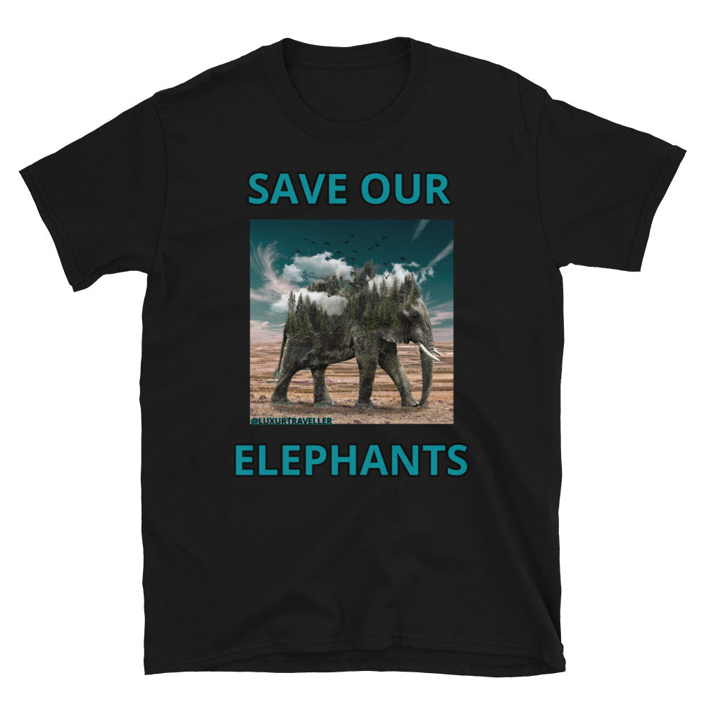 SAVE OUR ELEPHANTS ARTISTIC UNISEX T-SHIRT