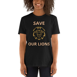 SAVE OUR LIONS UNISEX T-SHIRT - for each t-shirt sold we donate directly to charities constantly battling to end this horror