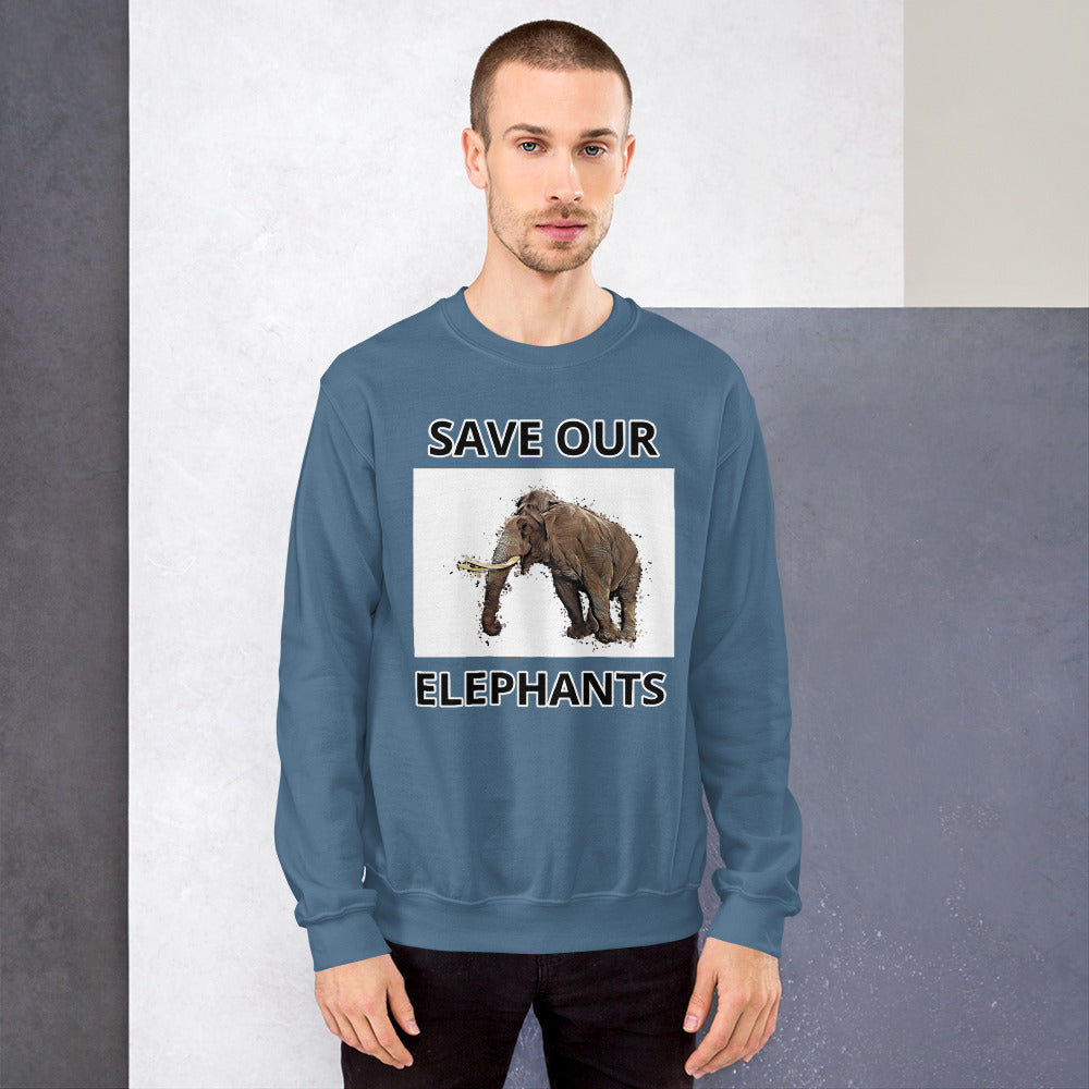 SAVE OUR ELEPHANTS UNISEX SWEATSHIRT