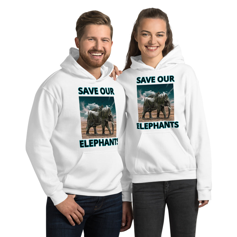 SAVE OUR ELEPHANTS UNISEX HOODIE