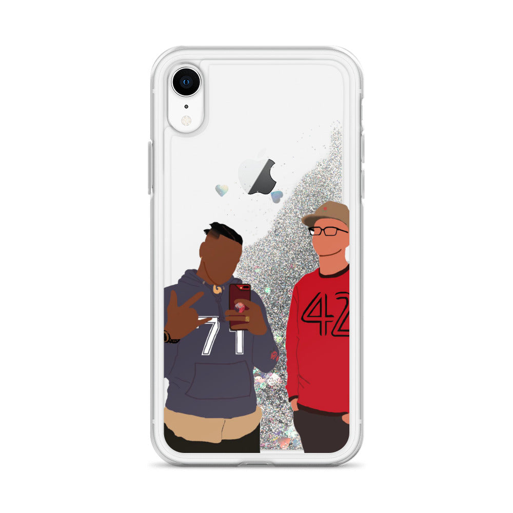 Pac and Dwayne iphone case