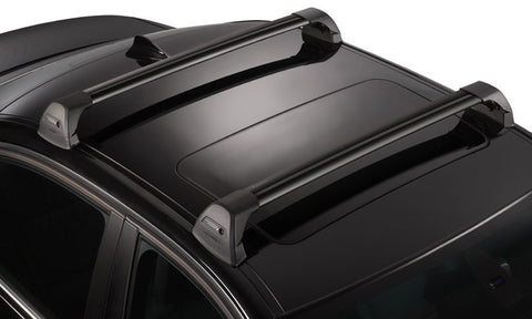WhispBar Flush Bar Black Edition Roof Rack - Sun And Snow