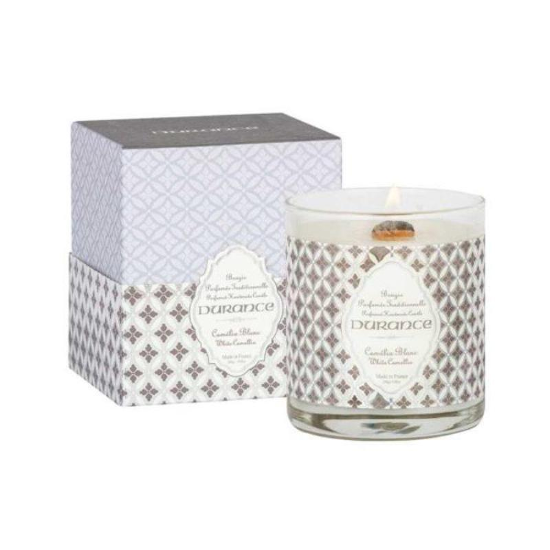 Wooden Wick Candle 280g White Camellia