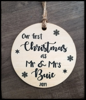 First Christmas as Mr & Mrs - personalized (4349797761094)