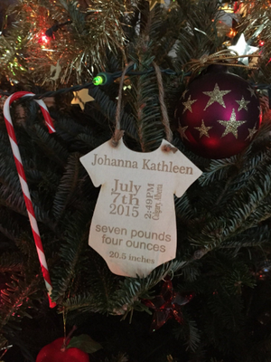 Custom Onesie Ornament (3851322261552)