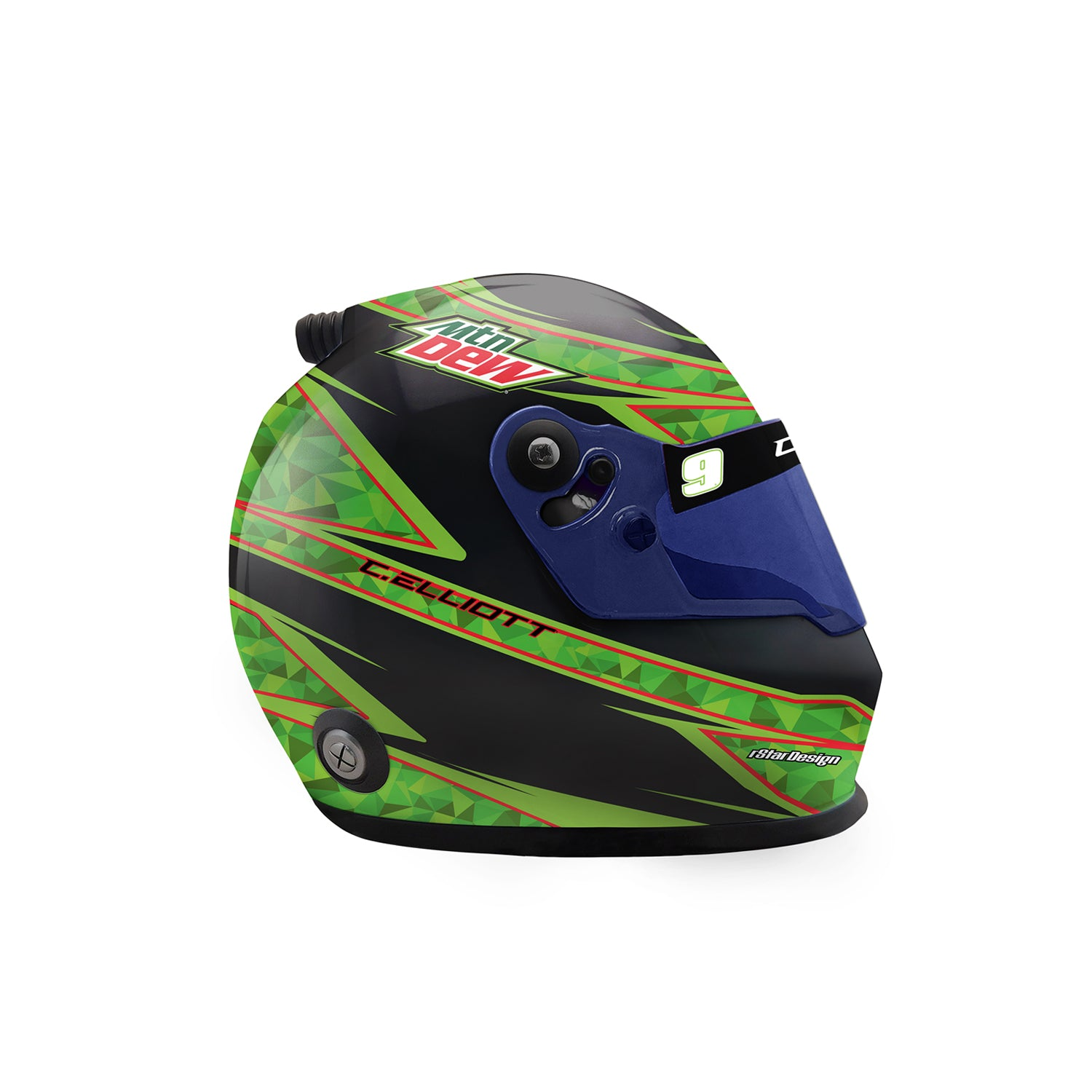 **PRE-ORDER** 2020 MOUNTAIN DEW *MINI* Collectible Replica Helmet