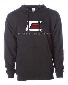 Black Chase Faded Logo Pullover Hoodie
