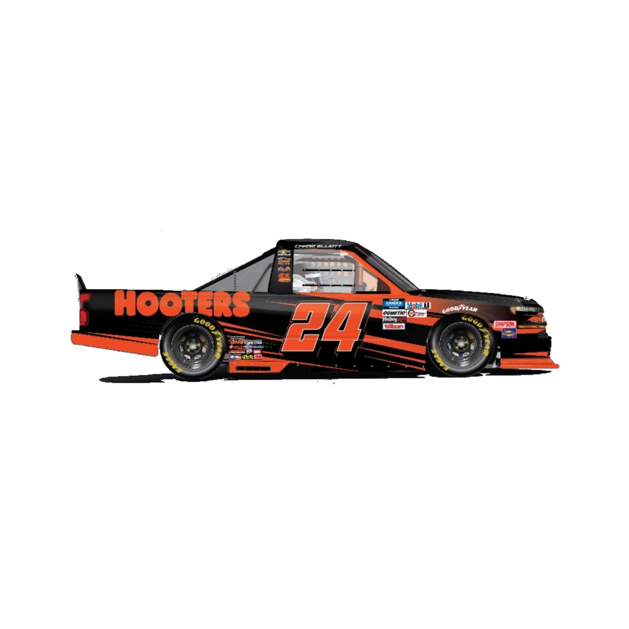 2020 Atlanta Truck Race Hooters STANDARD 1:64 Die-Cast