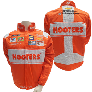 2019 Hooters Orange & White Pit Jacket