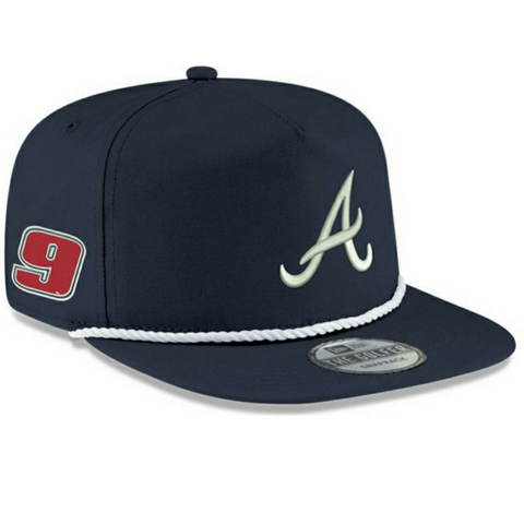 Dark Blue Chase Elliott x Atlanta Braves New Era Golfer Hat