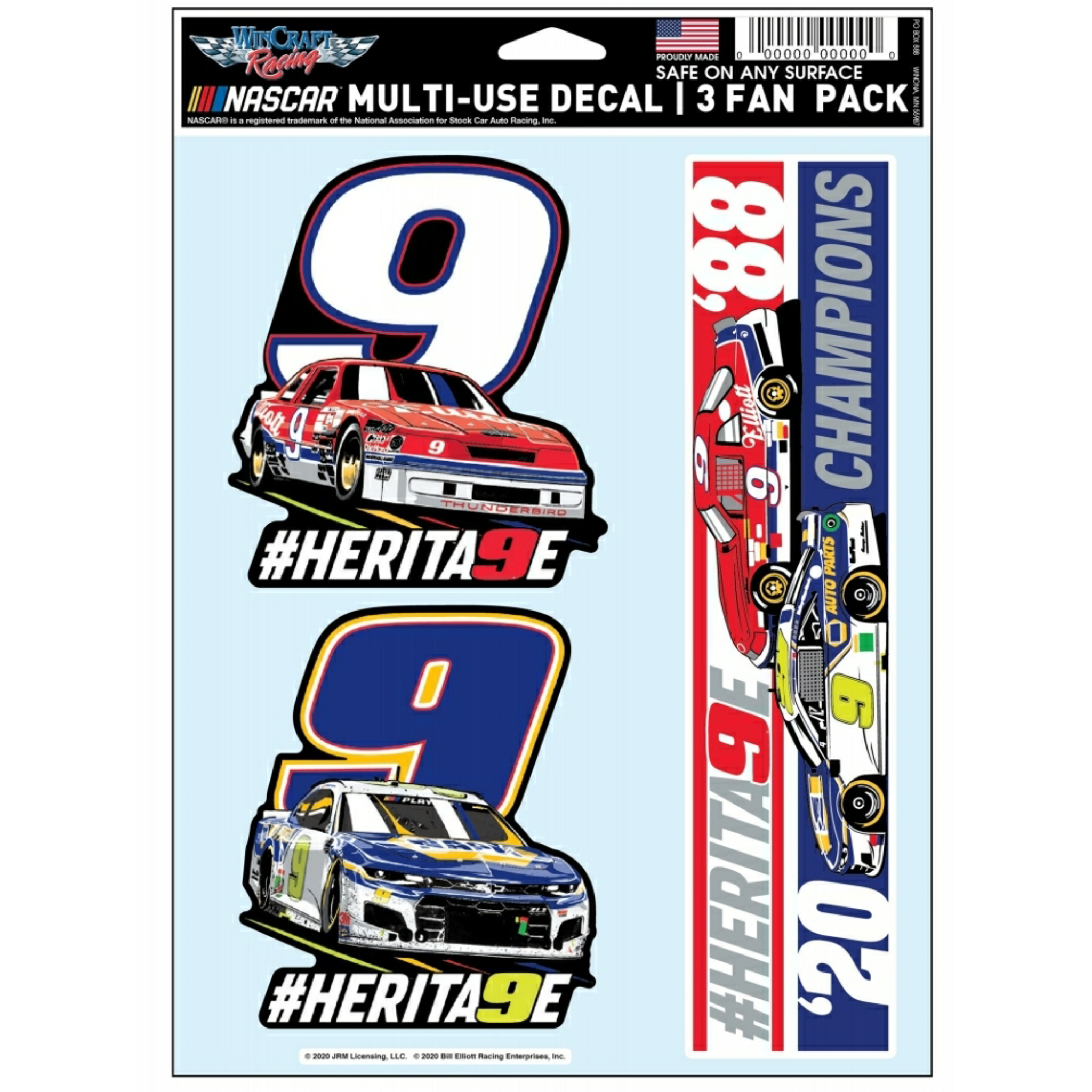 3pk Bill & Chase Car Decals