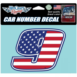 American Flag 9 Decal