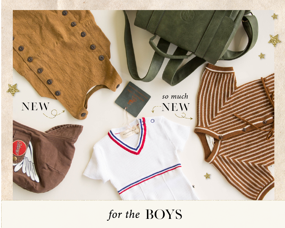 Shop boys clothing at the Lane and Co. The Lane and Co stock My Brother John, the cutest styles for boys