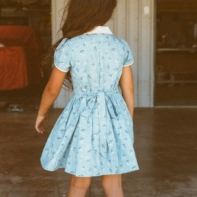 Abigail Little Girls Dress | Girls Summer Dress | Button Down Dress
