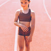 KIDS SPORTS CROP TOP | Girls activewear | Seventies Print |Chasing Oso