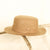 Brown Olive Boater Hat