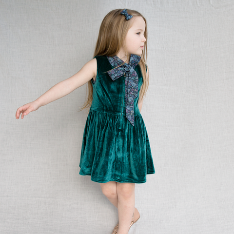 Mildred Velvet Picnic Dress