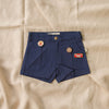 Cute denim vintage style boys shorts featuring My Brother John Pin set from the happy little vegemite collection