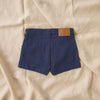 Retro style dark denim boy shorts by My Brother John from the happy little vegemite collection