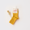 Condor Rib Short Socks - Curry