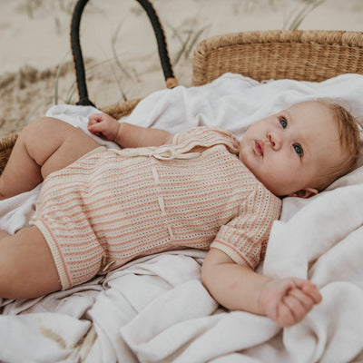 Aveline Knit Romper | Baby girls fashion | Lacey Lane