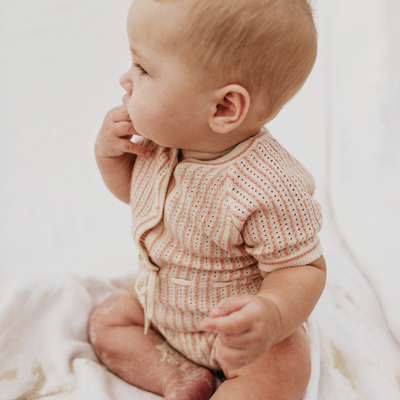Knitted Baby Romper | Baby Girls Romper
