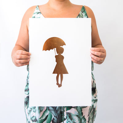 """EXCLUSIVE LACEY LANE GIRL"" WALL PRINT"