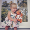 girls and doll matching dress