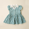 Vintage style blue dress for little girls | Little girls Summer dress