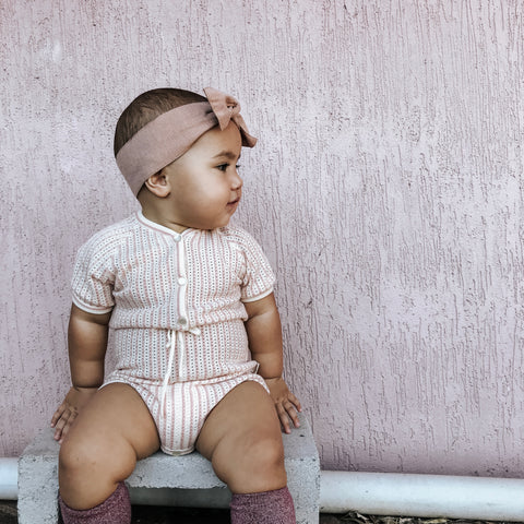 Knitted baby Romper | Baby girls fashion | Lacey Lane