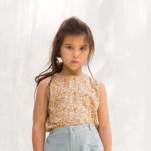 Ainsley Sleeveless Blouse | Girls fashion | Vintage floral