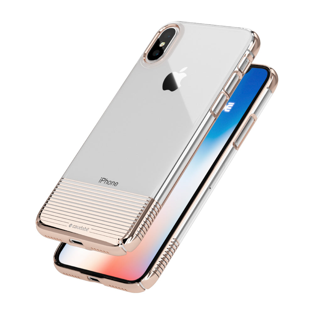 Lucid Clear - iPhone X — Rose Gold Metallic