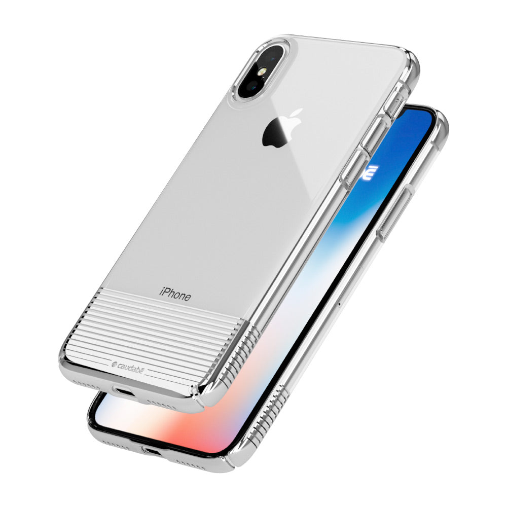 Lucid Clear - iPhone X — Silver Metallic