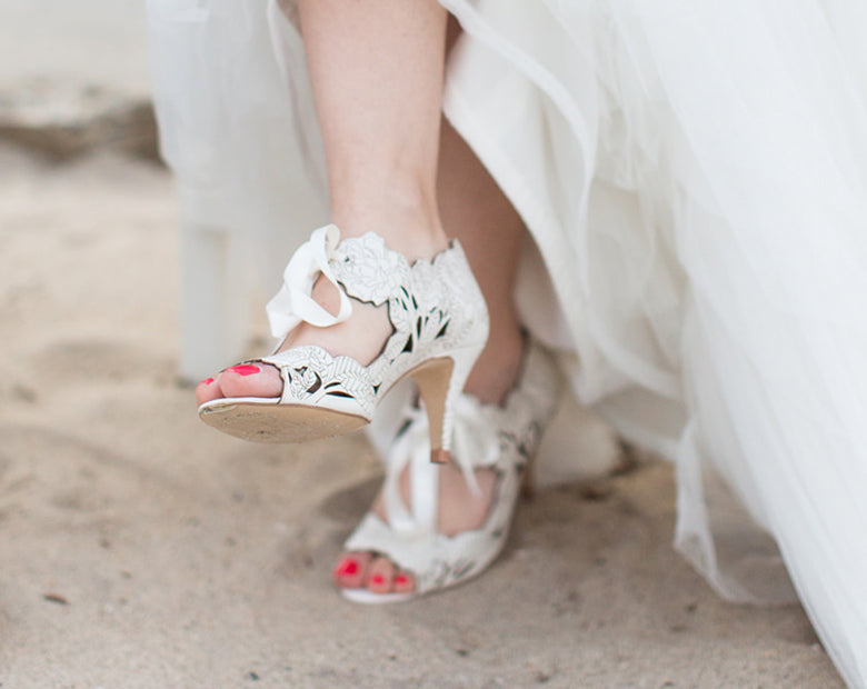 Brittany wears Peony Low Ivory