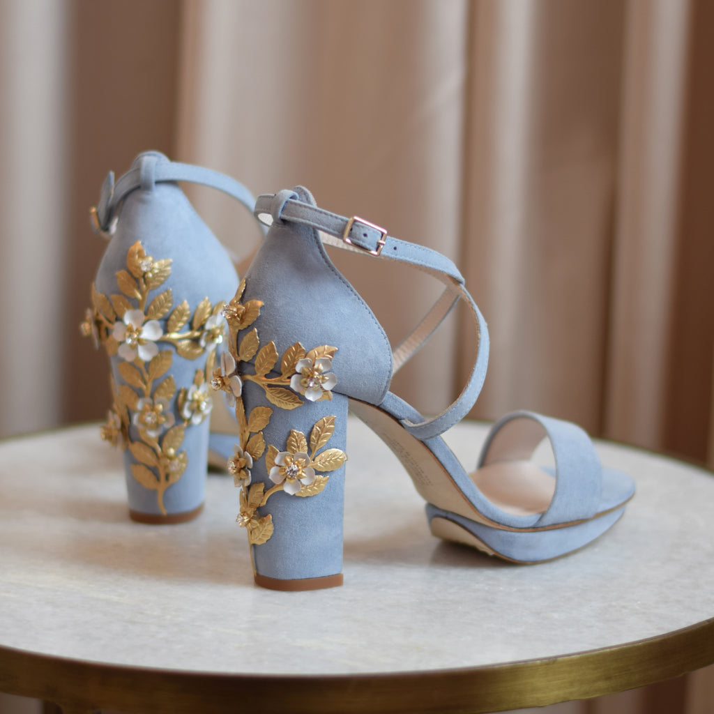 Shoe of the week - Arabella Block Blue Blossom