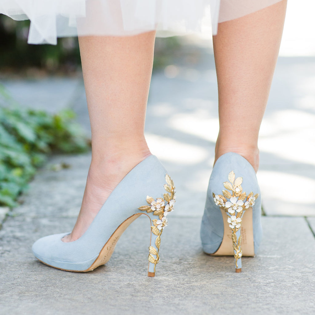 7405ccafd13 Amy Blue Blossom Wedding Shoes - Blue Bridal Shoes by Harriet Wilde