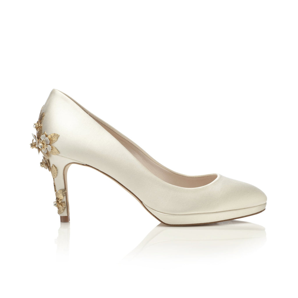 Ivory Mid Bridal Shoes